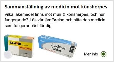 herpes medicin receptfritt